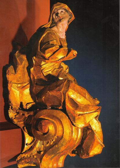 Seated female figure (Allegory of Orthodoxy), 1748 Johann Georg Pinzel