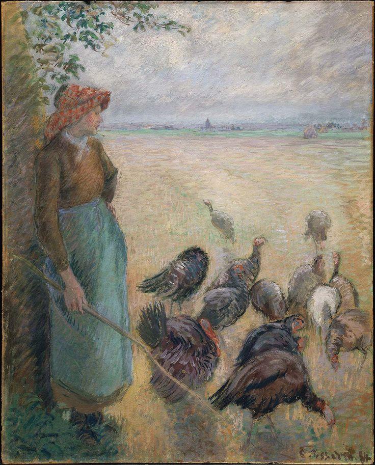"""Turkey Girl,"" 1884, Camille Pissarro"