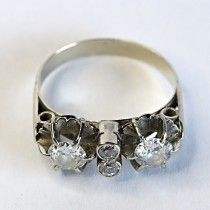 Retro style white gold ring with diamonds. $2610 http://www.astercollection.com/jewelery-selection/retro-diamonds-ring.html