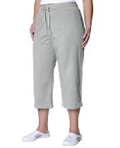 Danskin Women's Plus Size Cotton Drawstring Crop Pant