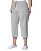 Danskin Women's Plus Size Cotton Drawstring Crop Pant