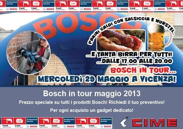 Bosch in Tour a Vicenza 29 maggio con grande rinfresco