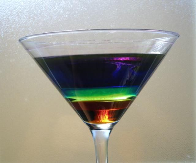 Make a liquid layers density column with many layers using common household liquids. This is an easy, fun and colorful science project that illustrates the concept of density.