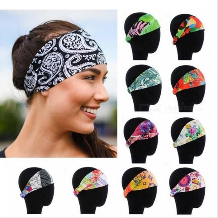 Stretch Stretchy Cotton Alice Band Yoga Hair Headband Ladies Girls Sports Floral
