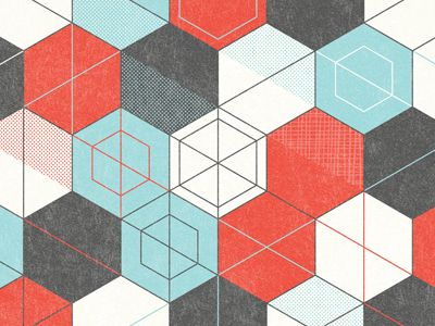 illustration: Geometric Patterns, Nate Leuthekan, Blue Colors Combinations, Nate Luetkehan, Hexagons Patterns, Illustration, Patterns Hexagons, Colors Patterns Colors, Shells Patterns