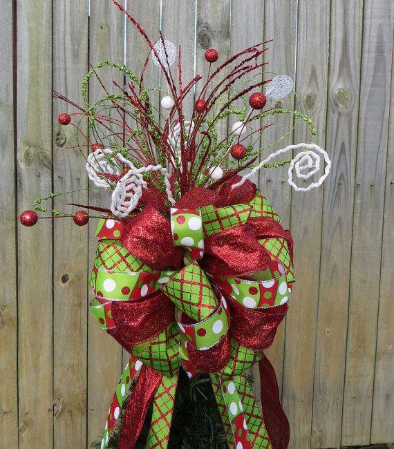 Tree Topper for Christmas - Christmas Tree Topper - Glitter Tree ...