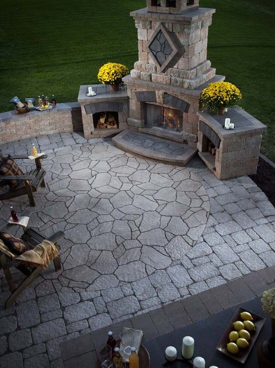 Outdoor Fireplace Design, Pictures, Remodel, Decor and Ideas - love this!