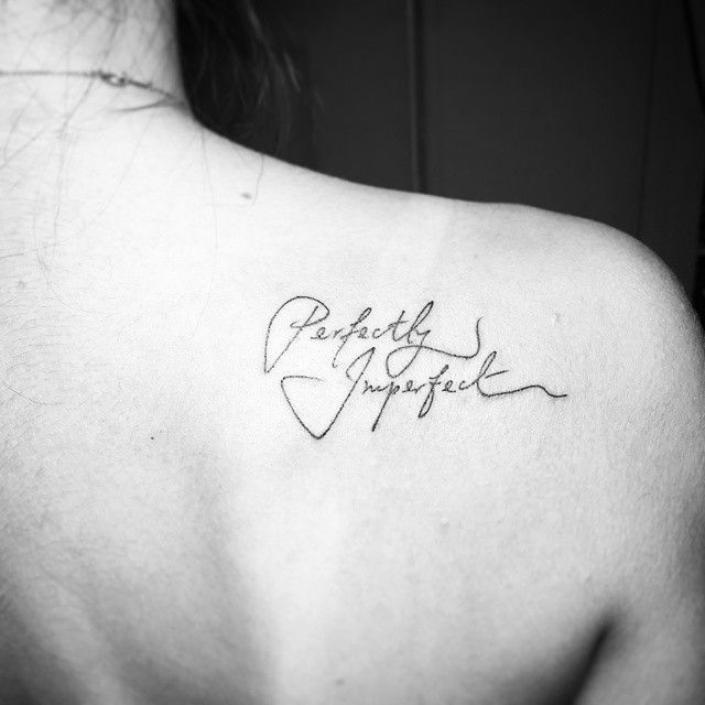 It's what we all are. :) #handwritten on the #shoulder #blade #tattoo #tattoos #sgtattoo #sgtattoos #singaporetattoo #singaporetattoos #inked #create #design #art #girlswithtattoos #handwriting #script #scripttattoo #perfectlyimperfect #simple #simplethings #simpletattoo #simpletattoos #tiny #tinytattoo #tinytattoos #loveyourself