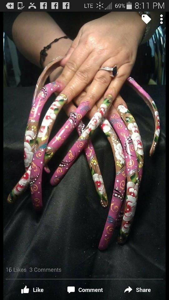 387 best Long Nails!! images on Pinterest | Claws, Facebook and Long ...