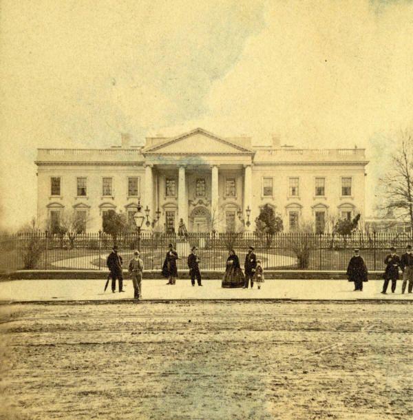 1865 the White House. http://i.imgur.com/qdqAvwe.jpg