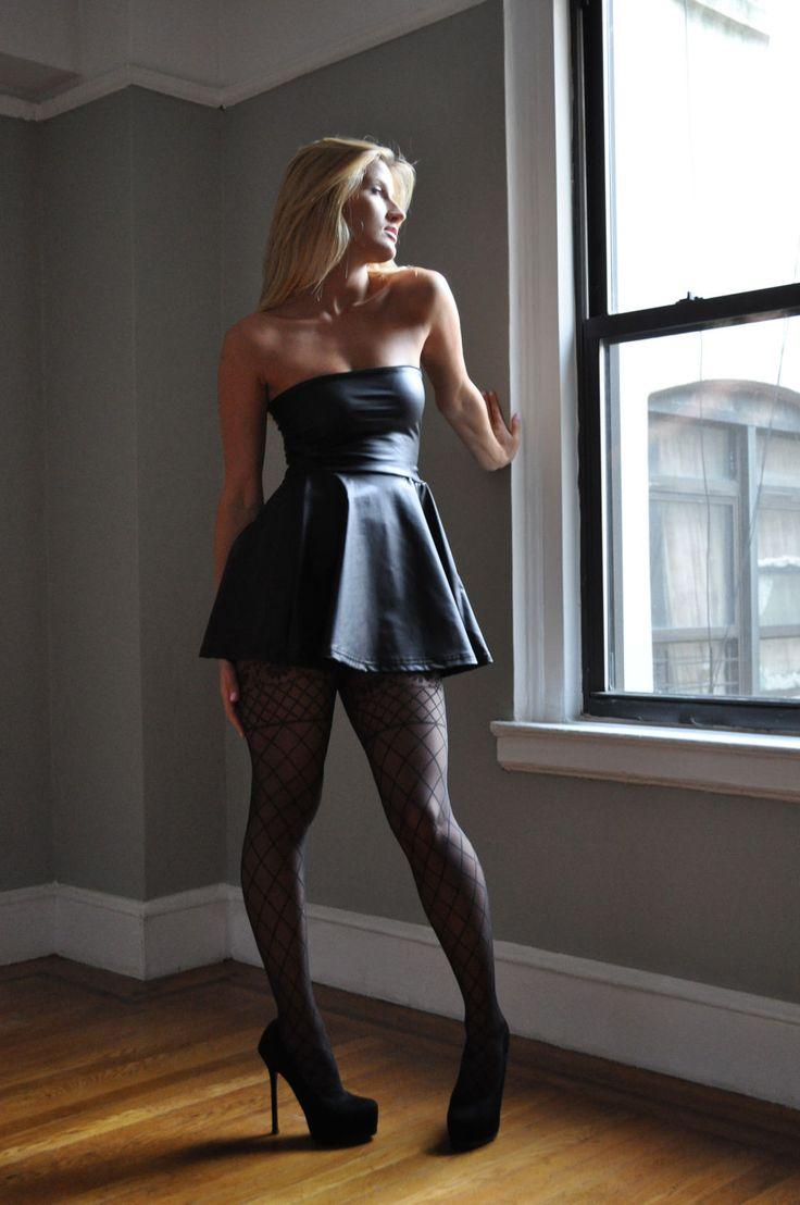 Nice Black Pantyhose She 46