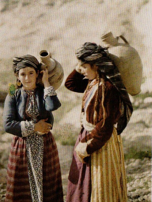 kurdish girls  carrying water  Zakho 1917