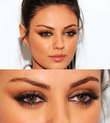 Mila Kunis' stunning eye makeup.