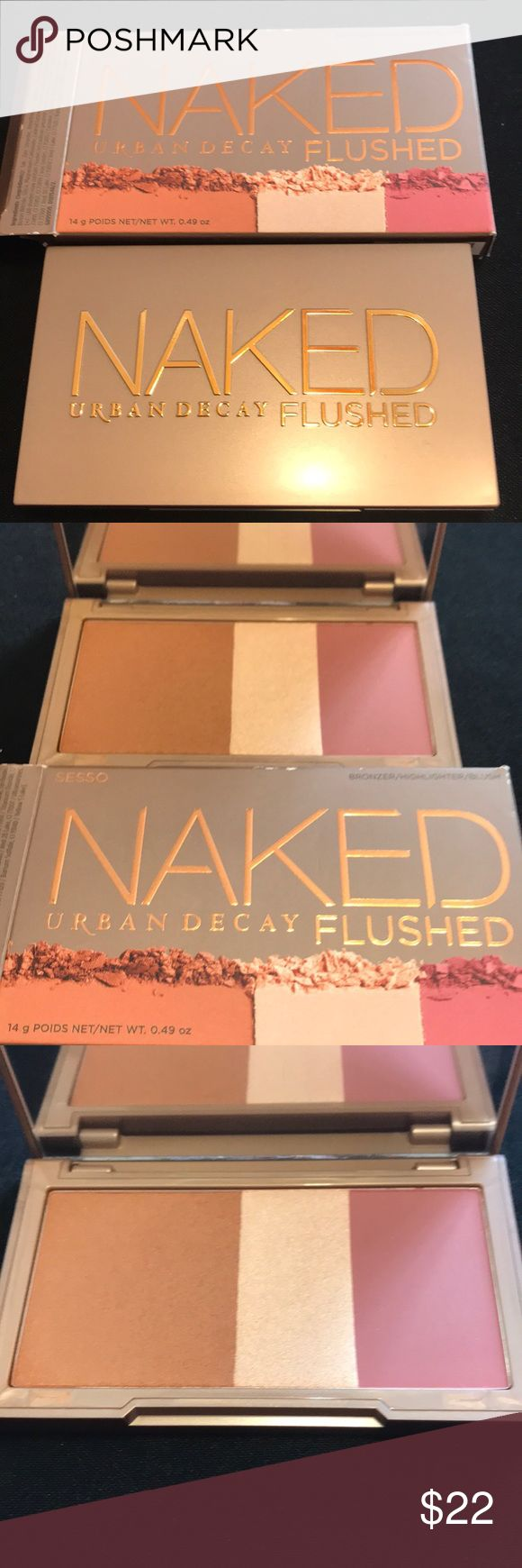Urban decay naked flushed SESSO. New authentic Urban decay naked flushed SESSO. New authenticThis includes a bronzer, highlighter, blush. These or the most usable colors I think of all the naked flushed pallets. Sephora Makeup Bronzer