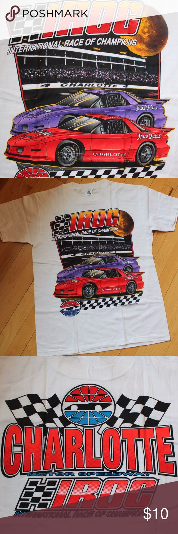 ✅NEW NASCAR Racing Race IROC tshirt Charlotte NEW in original package. Never worn. Vintage racing NASCAR tshirt from Charlotte Motor Speedway.  IROC series.  2-sided design on front & back.  100% preshrunk cotton. Belton Shirts Tees - Short Sleeve