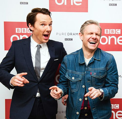 Benedict Cumberbatch and Martin Freeman attend a screening of 'Sherlock', December 19, 2016
