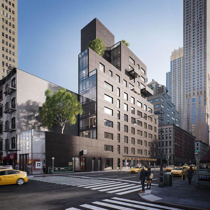 New Tribeca Building Offers Dazzling Views - http://freshome.com/30-warren-tribeca/