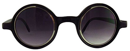 Ogle Small Round Sunglasses - 300 Black $15