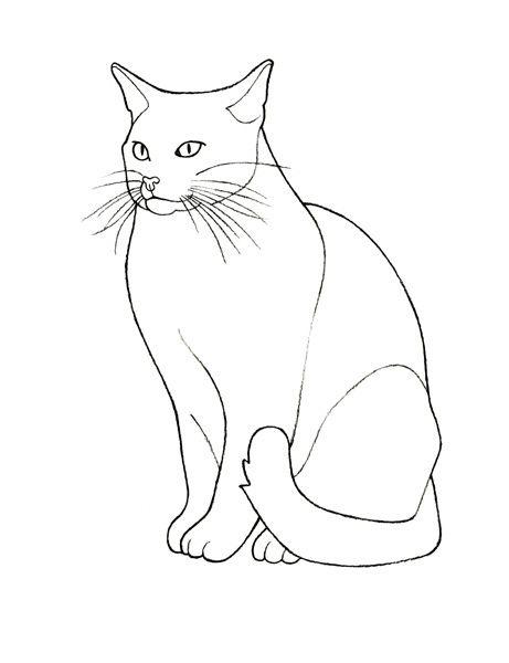 Рисунки кошек для детей 6-7 лет в сидячем