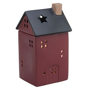 Welcome home! This cosy red house is complete with windows, a door and a removable black roof fitted with a skylight perfect for stargazing. To purchase, go to www.jenni.scentsy.com.au
