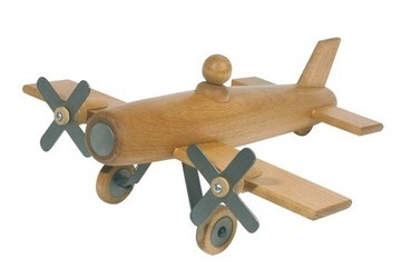 A classic wooden plane from Moulin Roty that will stand the test of time as an heirloom gift