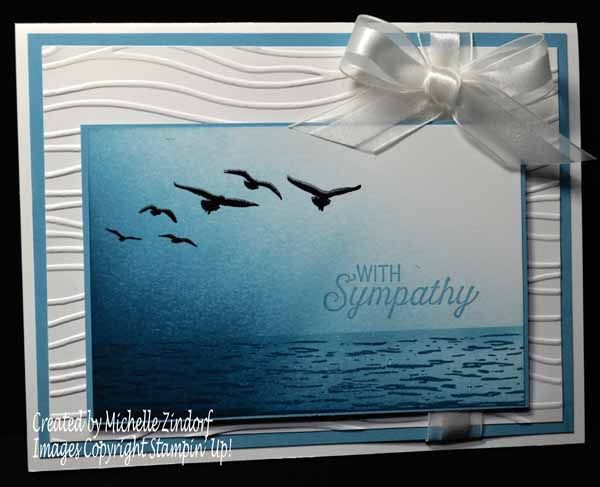 Sending Sympathy – Stampin' Up! Card created by Michelle Zindorf - High Tide Stamp Set