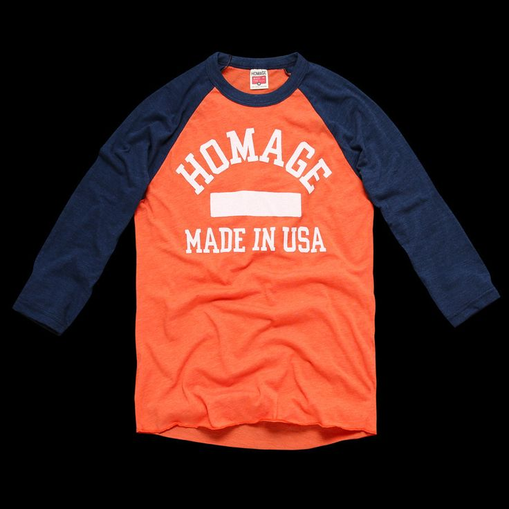 Orange HOMAGE Made in the USA Raglan
