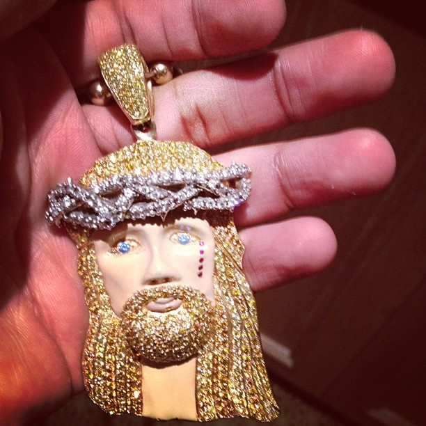 "Most of us wished we had this ""Jesus Piece"". If your money was long you had one if not off to your nearest swap meet. BIG SEAN'S JESUS PIECE"