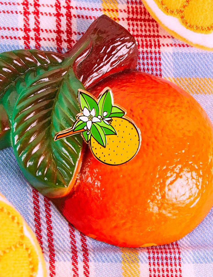 Orange Blossom Pin – BIG BUD PRESS