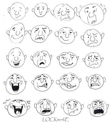 LOCKwerkE: Musterhafte Gesichtsausdrücke