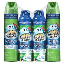 Scrubbing Bubbles® Mixed Pack - (2)25oz. Fresh Foaming Bath Cleaner + (2)20oz. Mega Shower Foamer