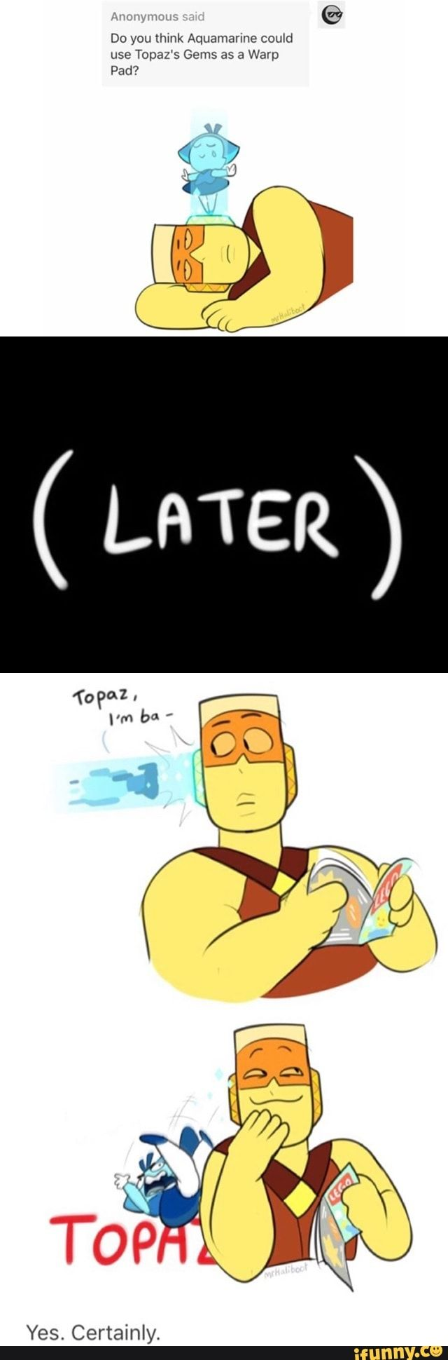 Whoops>> I think the funniest part is that Topaz is reading a LEGO magazine :P