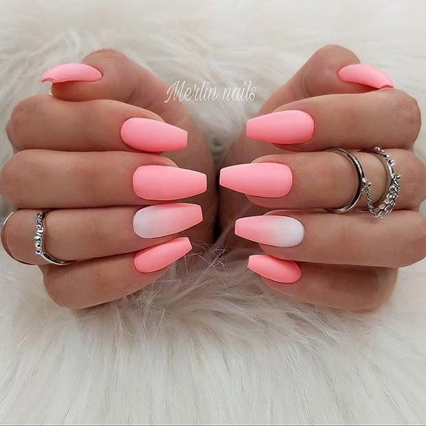 21 Matte Coffin Nails You Need To Try Right Now Summer Acrylic