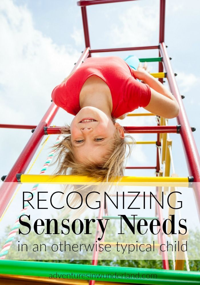 Every child has sensory needs.  Some children need the input more than others and some are triggered into behaviors with certain inputs. It is important to be able to recognize these sensory needs in an otherwise typical child.