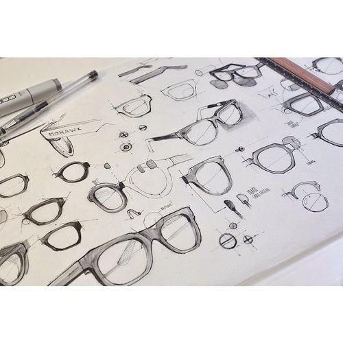 Sketches we like / Eywear / Pencil and copic / Mohawk / at tatstysketch