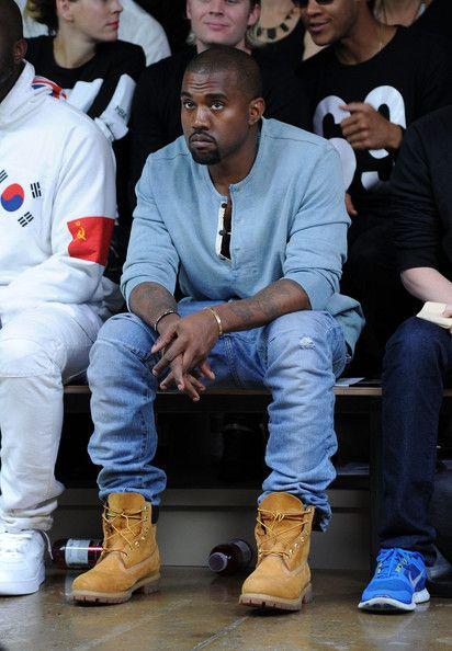 @Royal Kanye West wearing @Timberland #yellowboots at the Hood by Air fashion show at @John Searles