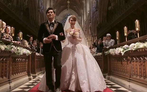 Taiwanese singer and actor Jay Chou has released footage of his fairytale   English wedding to model Hannah Quinlivan