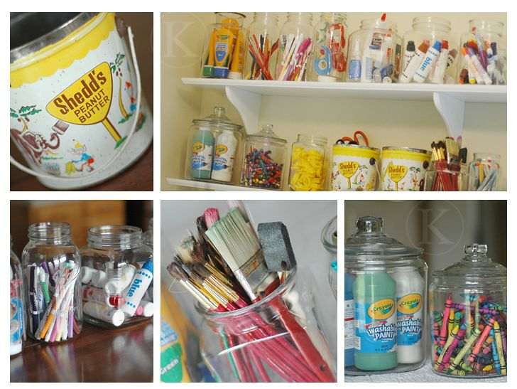 Good Way To Make Your Art Supplies Visable Instead Of Shoved In A Drawer