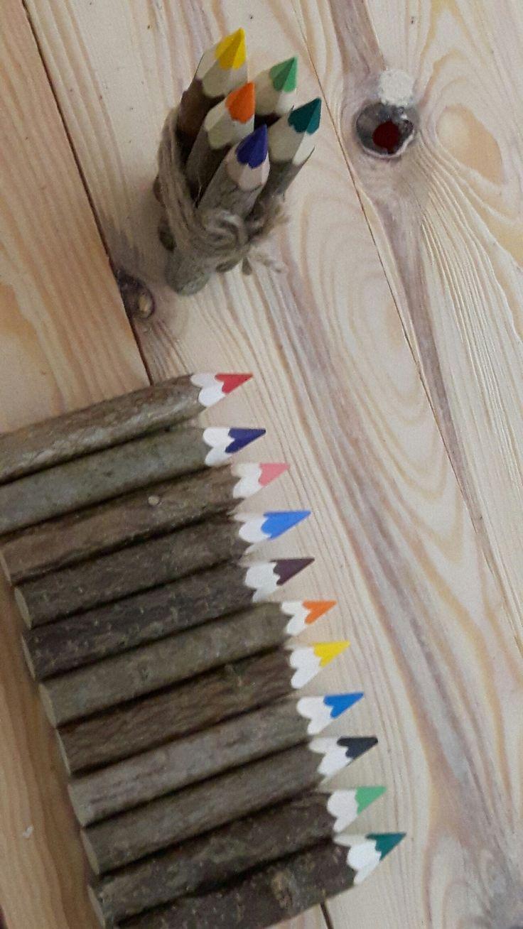 Kredki leszczynowe.kredki drewniane producent .wood crayons holzbuntstiften,eco kredki,unikatowe kredki,wyroby z drewna ,gadżety z drewna,holzstifte