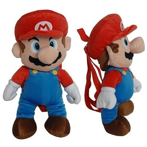 $12.00 Nintendo Super Mario Bros. Large Plush Doll Backpack 18 - Nice Large Plush Backpack, A small compartment on the back. Buy it now, hot item.. new