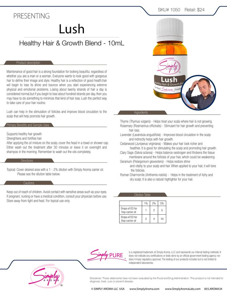Lush Healthy Hair Blend essential oil fact sheet Herbs and - sample fact sheets