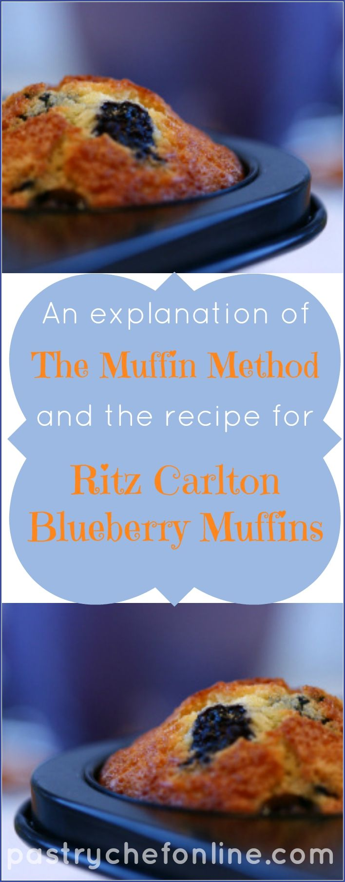Learn the correct way to mix a muffin batter for light, fluffy, tender muffins (as told by my Uncle Ray) and get the recipe for the moist and delicious Ritz Carlton Blueberry Muffins that Auntie Ev used to make for him all the time. After Auntie Ev died, I decided to teach him how to make them himself. | pastrychefonline.com