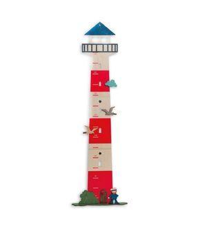 Olli Olbot 35271 Messlatte Leuchtturm 80-150cm Messen Kinder Wachstumsmesser Dekoration  - 2-flowerpower