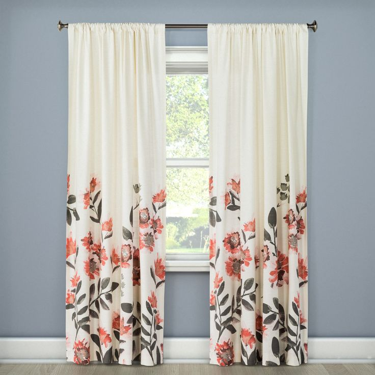 Better Homes And Gardens Tranquil Floral Curtains