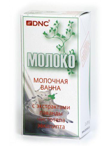 Молочная ванна  Молоко очень богато разными биологически активными веществами. Аминокислоты смягчают кожу, ускоряют обменные процессы. Молочная кислота служи естественным пиллингом, протеины в молоке питают кожу и насыщают ее.  Специально обработанное для косметических целей, чтобы сохранить максимум полезных веществ, сухое молоко обогащено экстрактами растений, что делает ванну еще более полезной.  Ванна с экстрактами лаванды, чистотела, эвкалипта. Комплекс успокаивает раздраженную кожу…