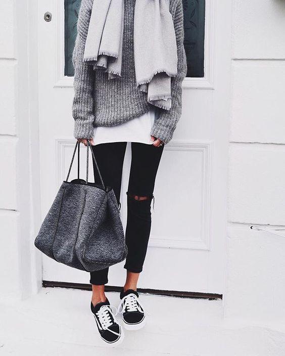 Fashion Cognoscente: Trending: Black Vans Sneakers