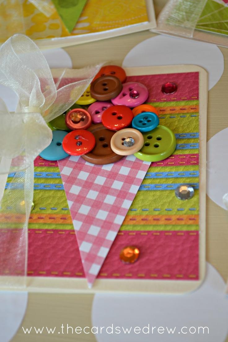 button card ice cream cone