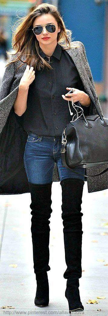 Looks de street style con botas altas, ¡aprende cómo combinarlas! | Cuidar de tu belleza es facilisimo.com