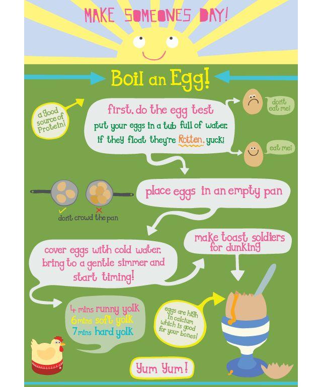 how to boil an egg for children illustration