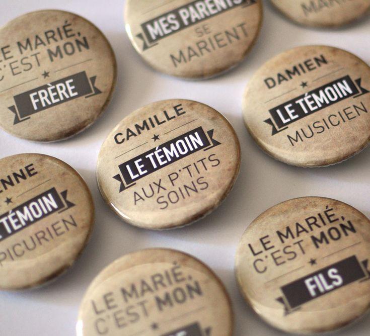 Bulles de Neige, badges personnalisés EVJF / Mariage / Anniversaire